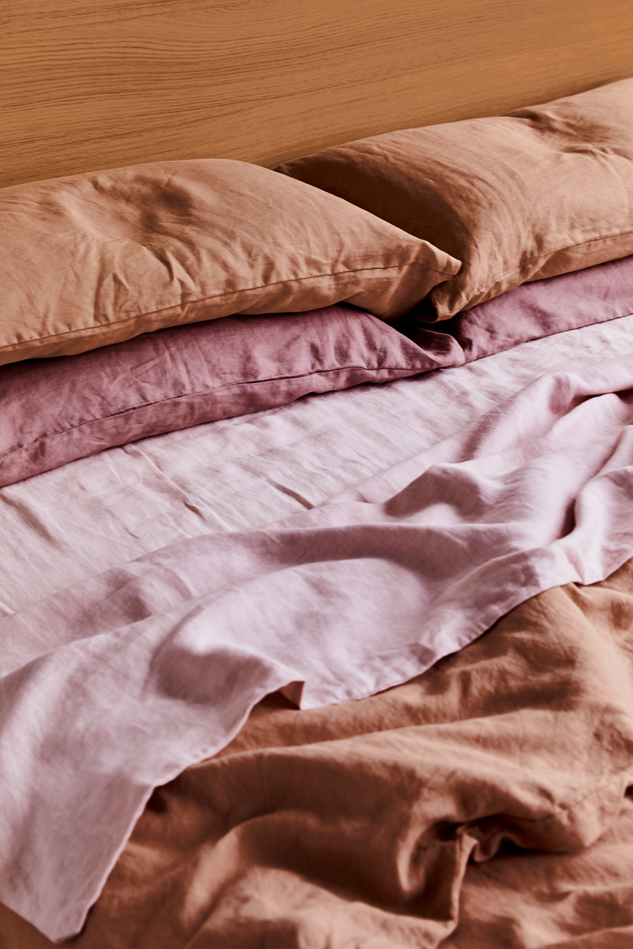 Pink Clay 100 Flax Linen Bedding Set Bed Threads