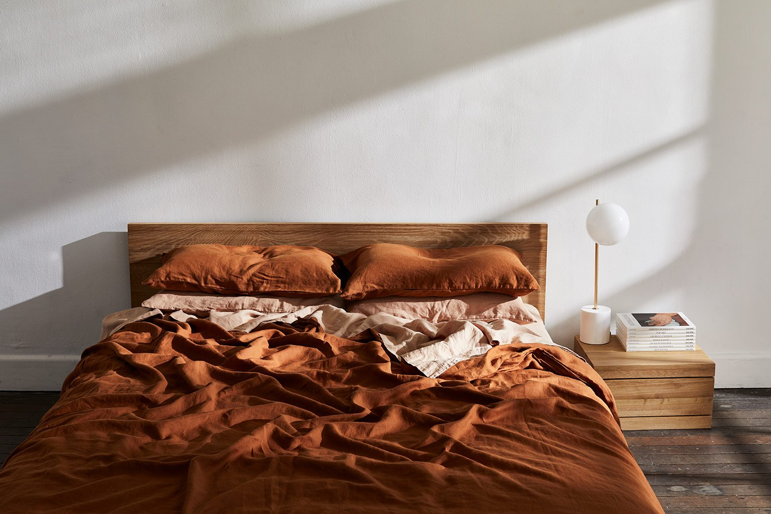 New Arrivals Rust Terracotta Bed Threads