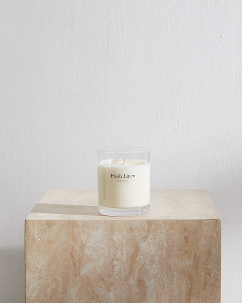 Fresh Linen Candle by Bed Threads - Bed Threads