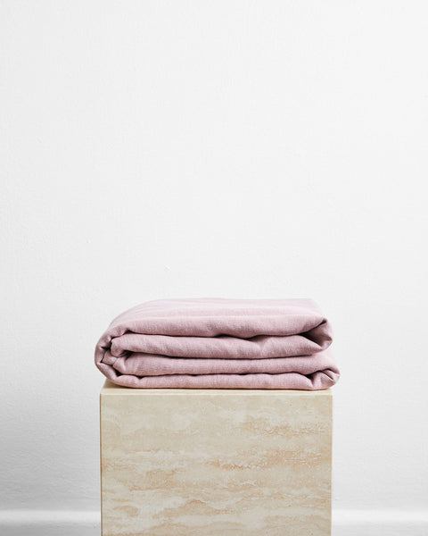 Lavender 100% French Flax Linen Throw - Cali King - Bed Threads