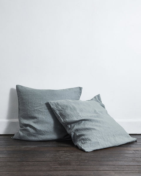 Mineral 100% Flax Linen European Pillowcases (Set of Two) - European Size - Bed Threads