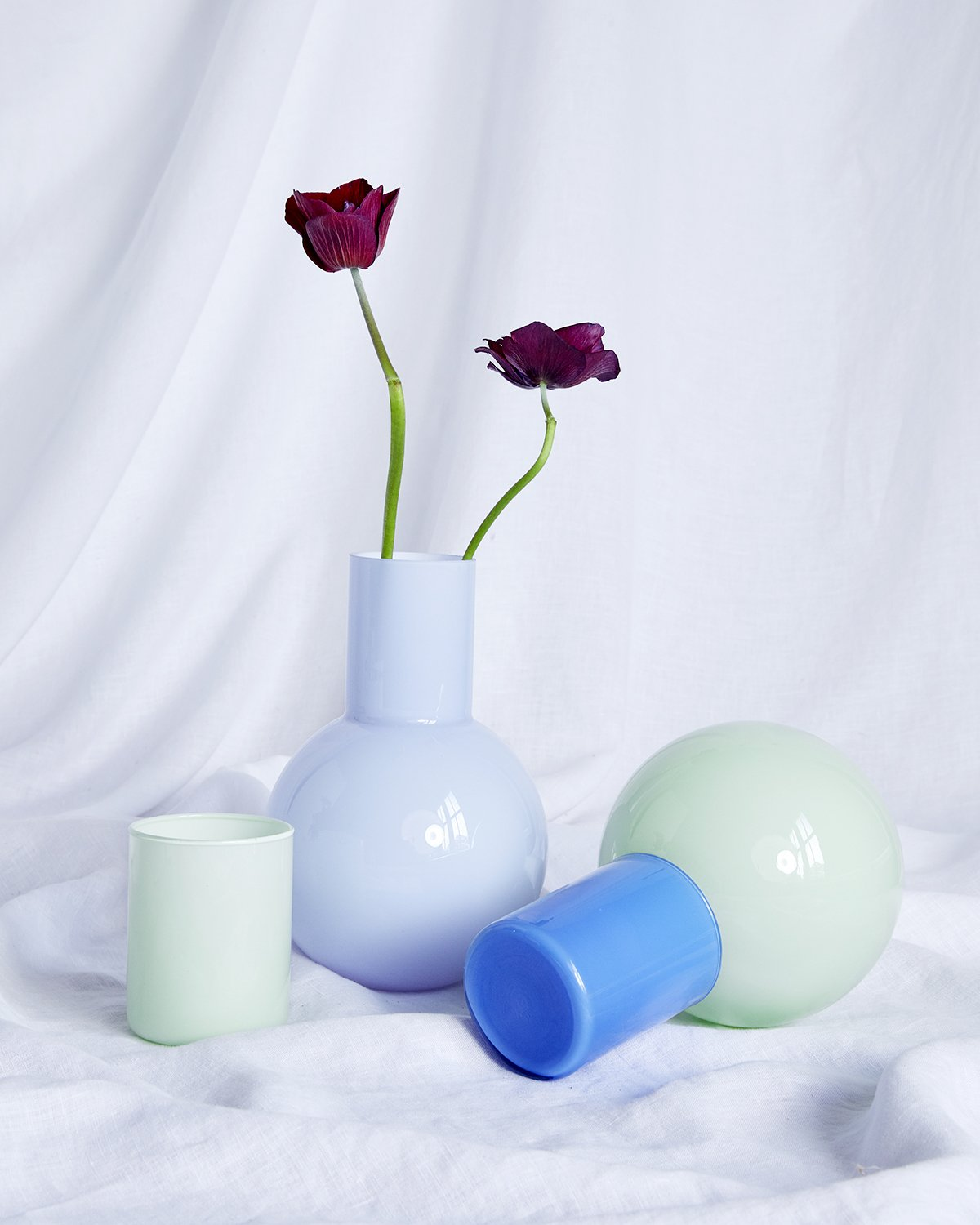 Anna Karlin Bedside Carafe in Green & Blue