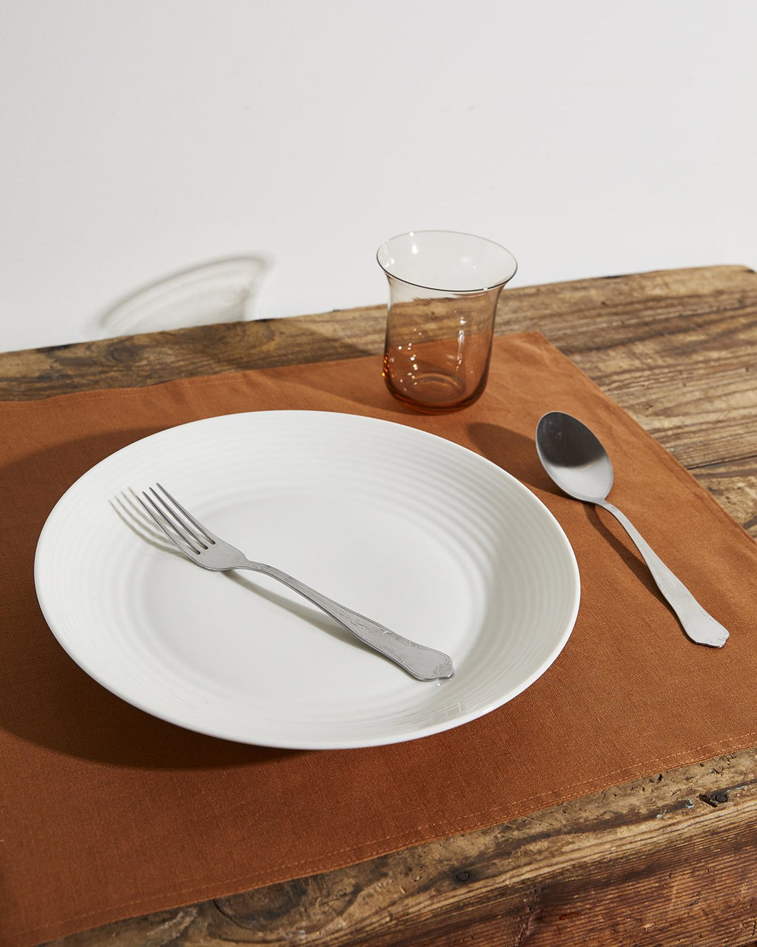 100% Linen Placemats in Rust (Set of Four)