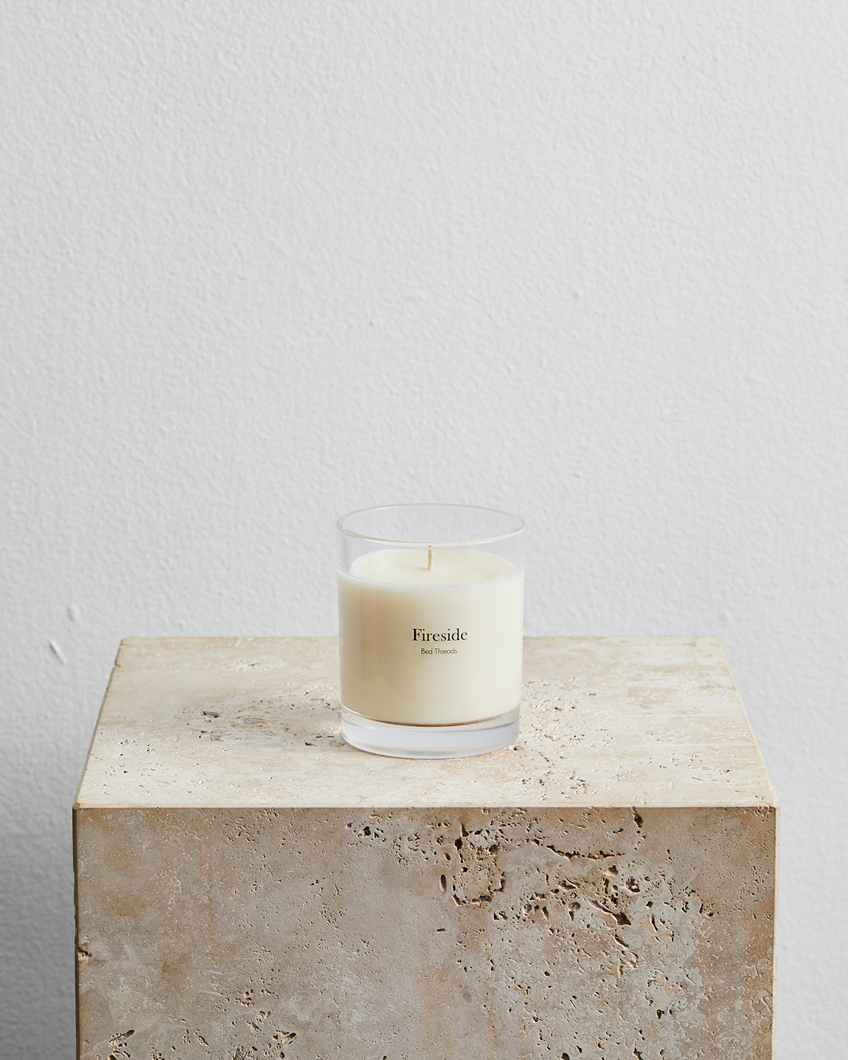 Fireside Candle by Bed Threads