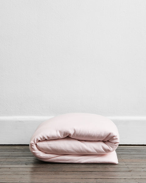 Rosewater 100% Flax Linen Duvet Cover - Twin/Twin XL - Bed Threads