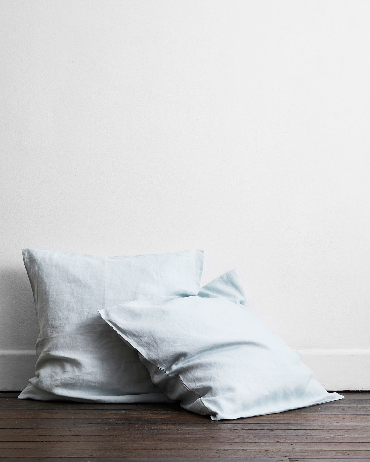 Drift 100% Flax Linen European Pillowcases (Set of Two)