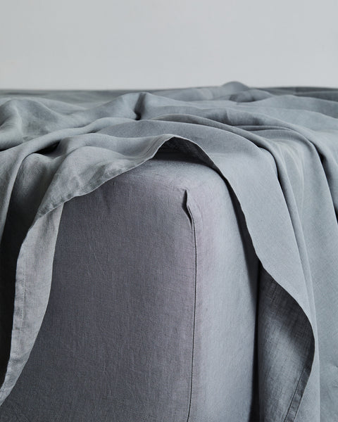 Mineral 100% Flax Linen Fitted Sheet - Queen - Bed Threads