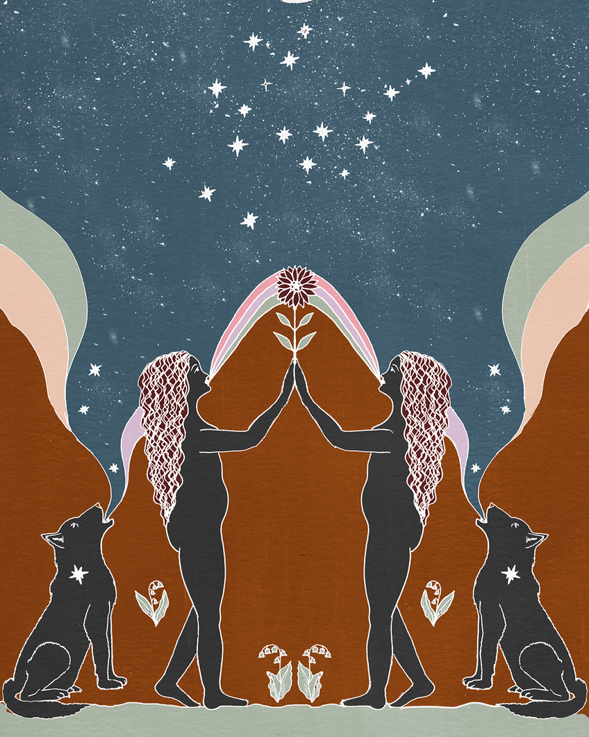 Seeds of Spells x Sisters Village 'Gemini' Print