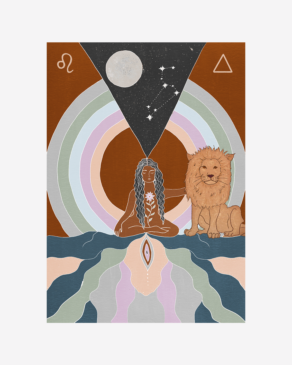 Seeds of Spells x Sisters Village 'Leo' Print
