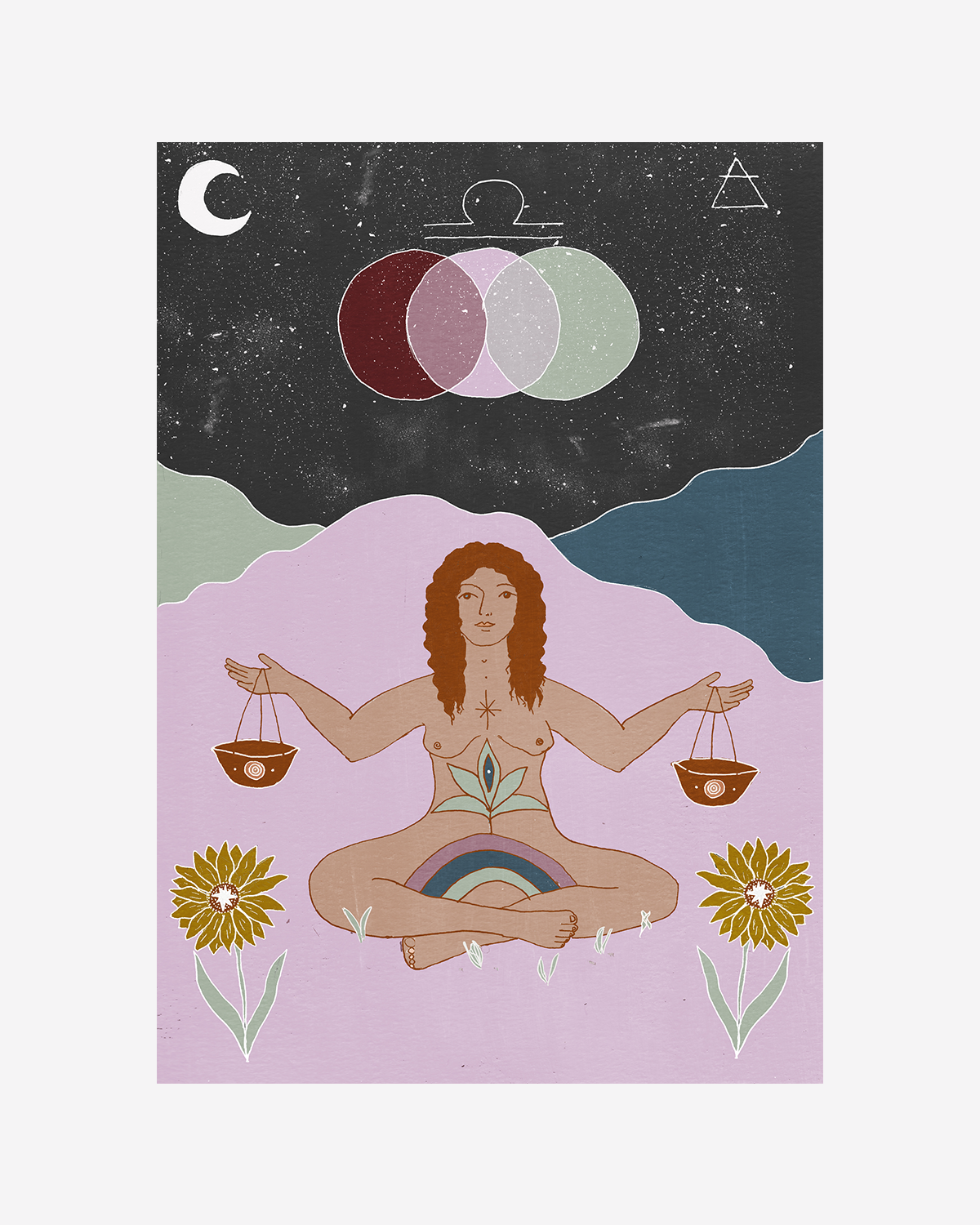 Seeds of Spells x Sisters Village 'Libra' Print