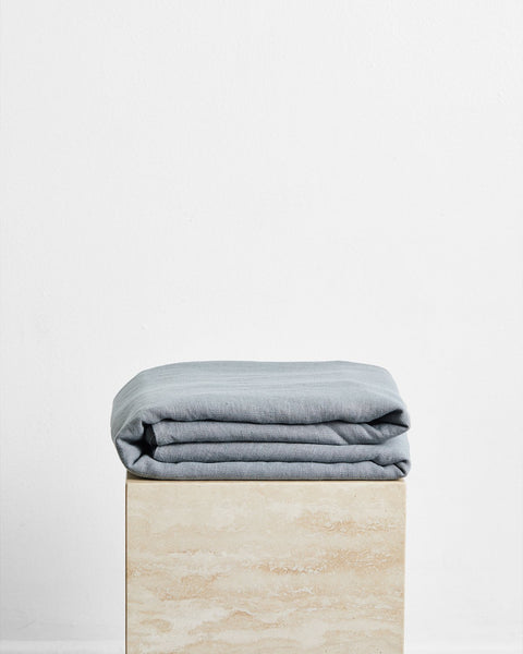 Mineral 100% French Flax Linen Throw - Full - Bed Threads