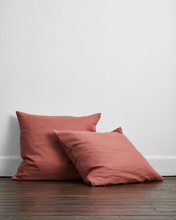 Load image into Gallery viewer, Pink Clay 100% Flax Linen European Pillowcases (Set of Two)