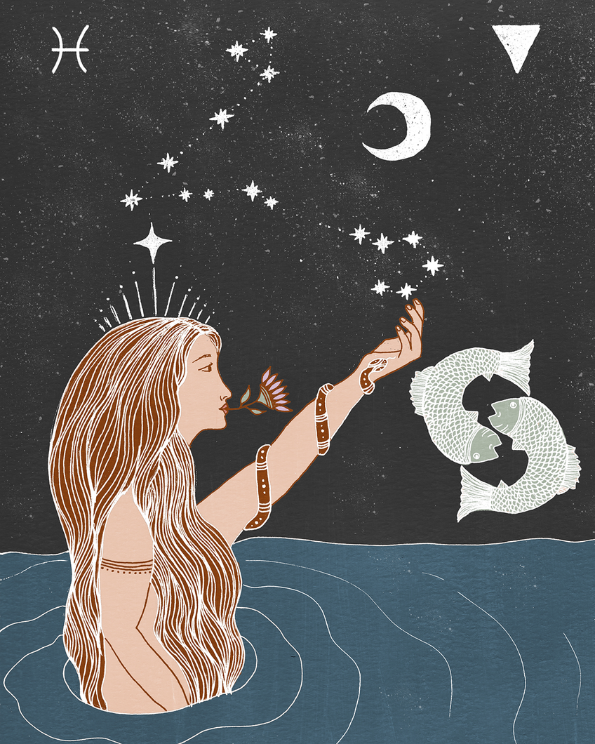 Seeds of Spells x Sisters Village 'Pisces' Print