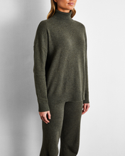 Load image into Gallery viewer, 100% Cashmere Sweater in Olive