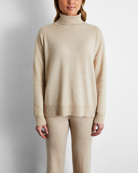 100% Cashmere Sweater in Oatmeal - Medium - Bed Threads