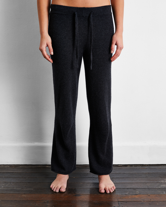 100% Cashmere Pants in Charcoal