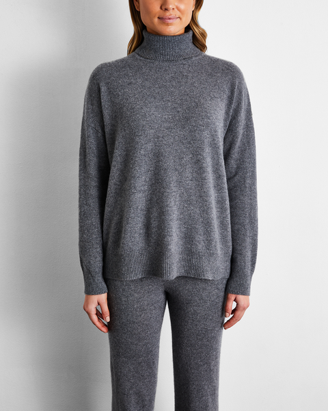 100% Cashmere Sweater in Fog - Extra Large - Bed Threads