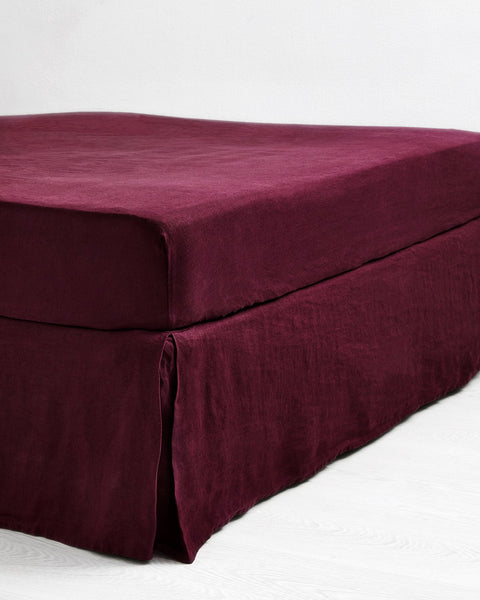 Ruby 100% Flax Linen Valance - Full - Bed Threads