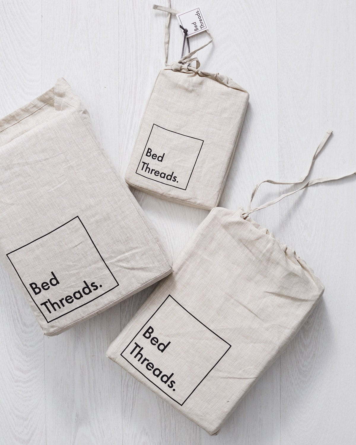 Fog 100% Flax Linen Pillowcases (Set of Two)