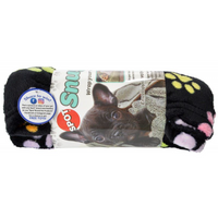 Spot Snuggler Rainbow Pawprint Pet Blanket - Frenchie and Friends