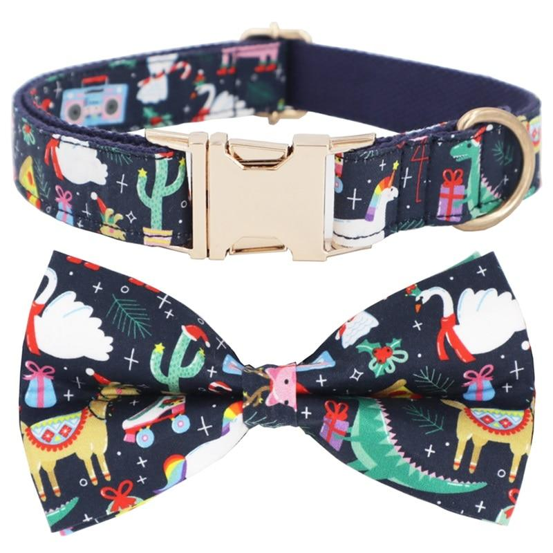 Colorful Holiday Print Collar