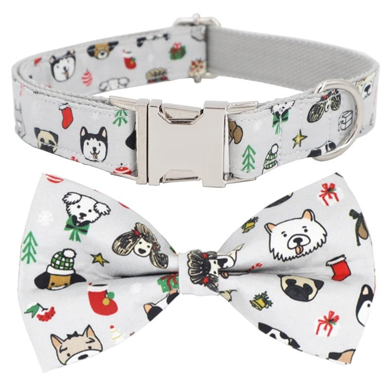 Holiday Dogs Print Collar