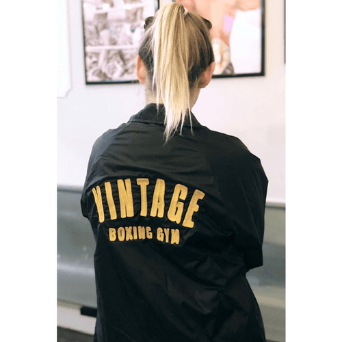 Custom Embroidered Coaches Jacket - Vintage boxing