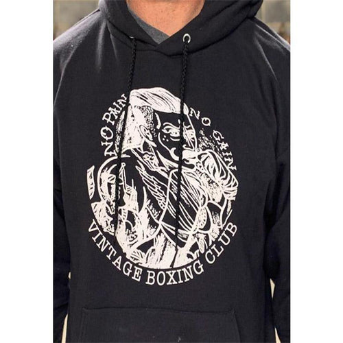 Vintage-Boxing Fighter Logo Hoodie - Vintage boxing