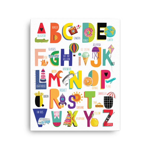 Colorful Alphabet Canvas Wall Art