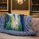 Mother Earth Watercolor Throw Pillow