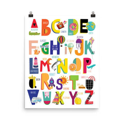 Colorful Alphabet Illustration Poster