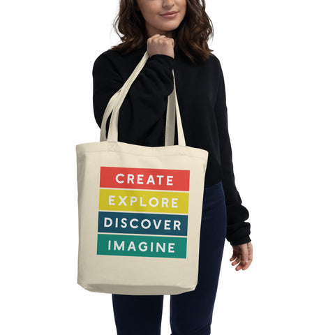 Create Explore Discover Imagine Eco-Friendly Tote Bag