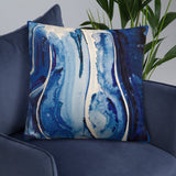 Mother Ocean Blue Watercolor Throw Pillow