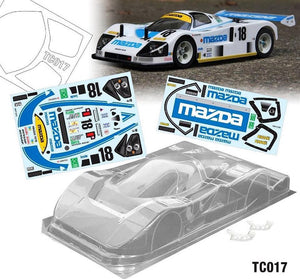 TC017 1/10 Mazda 787B, 190mm w/ 1991 Le Man Sticker