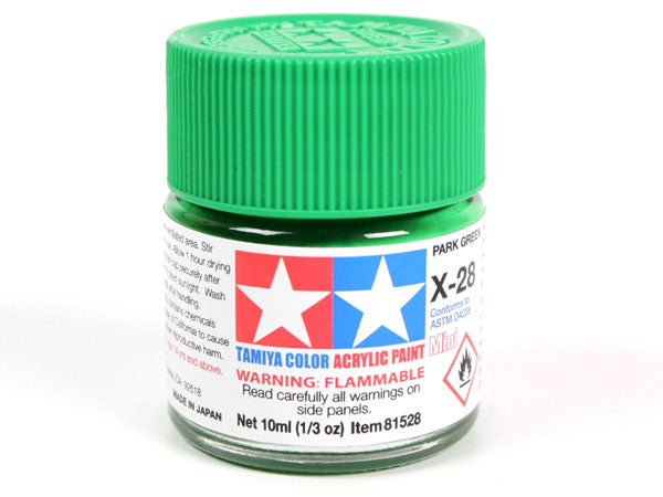 Tamiya X-28 Park Green Mini Acrylic Paint - 10ml 81528
