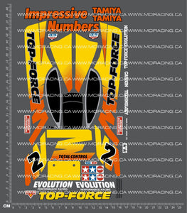 1/10TH TAM 58107 - TOP FORCE EVOLUTION DECALS