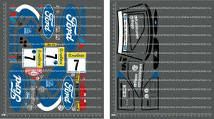 1/10TH TAM 58216 - FORD ESCORT COSWORTH RS - FORD DECALS - L&L models
