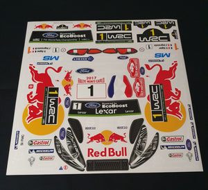 Fiesta redbull decals 200mm shell