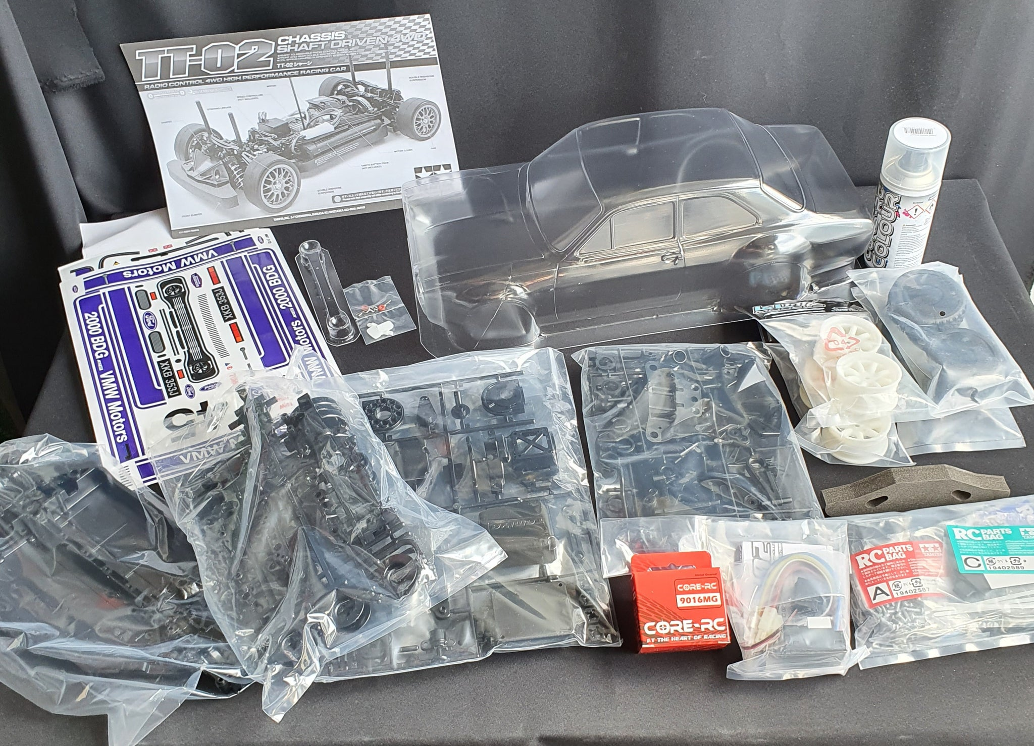 Mk1 Escort TT02 Tamiya chassis kit (VWM Motors decal option)