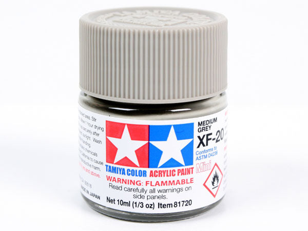 Tamiya XF-20 Medium Grey Mini Acrylic Paint - 10ml 81720