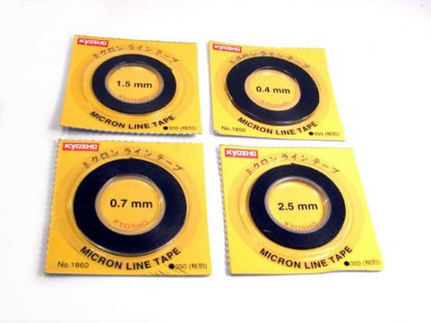 Kyosho Micron Tape - (Black) 0.4mm x 8M