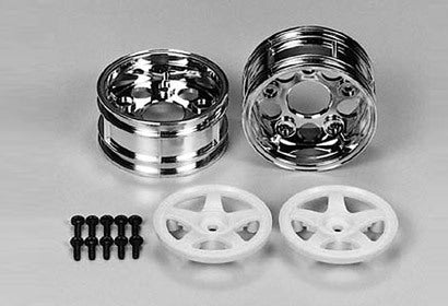 Tamiya 50673 Sp.673 RC Spare Parts 5-spoke 2pcs Wheels Wide - L&L models