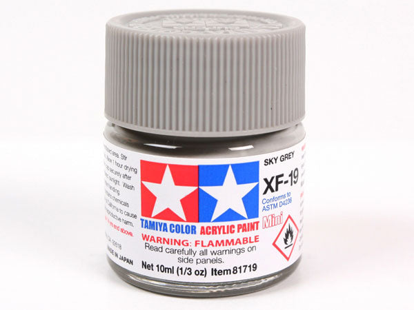 Tamiya XF-19 Sky Grey Mini Acrylic Paint - 10ml 81719