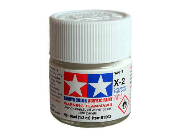 Tamiya X-2 White Mini Acrylic Paint - 10ml 81502