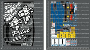 1/10TH TAM 58125 - FORD ESCORT COSWORTH RS - MICHELIN DECALS - L&L models