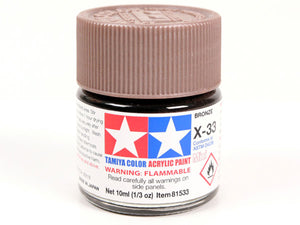 Tamiya X-33 Bronze Mini Acrylic Paint - 10ml 81533