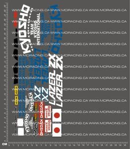 1/10TH KYOSHO - LAZER ZX DECALS