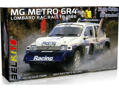 BELKITS 1/24 MG METRO 6R4 RAC LOMBARD RALLY 1986 J. MCRAE MODEL KIT