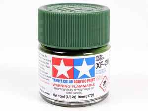 Tamiya XF-26 Deep Green Mini Acrylic Paint - 10ml 81726