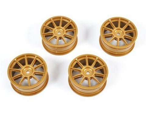 #51022 Tamiya - 1/10 Medium-Narrow 10-Spoke Wheels (Offset 0) Gold - L&L models